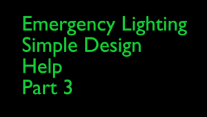 Where to put Emergency Lighting
